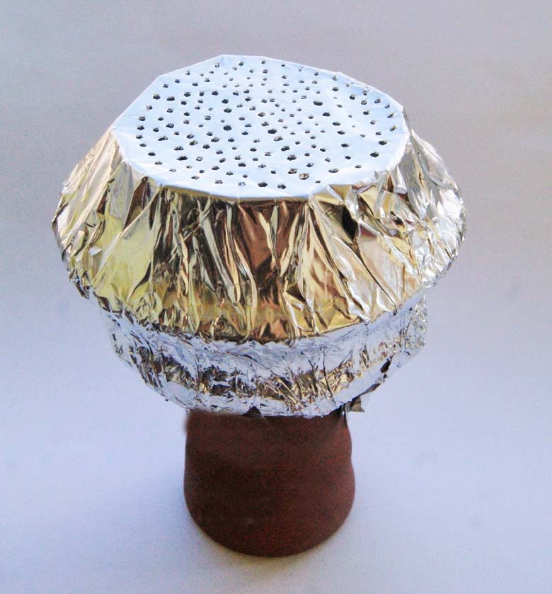 Как сделать колпак из фольги кальян