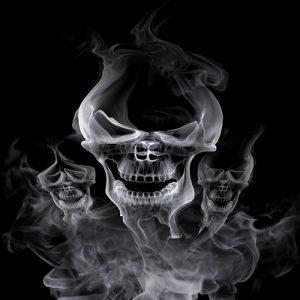 дым череп