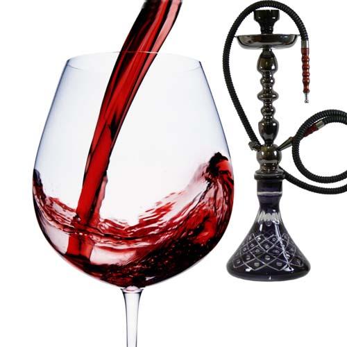 Вино и кальян