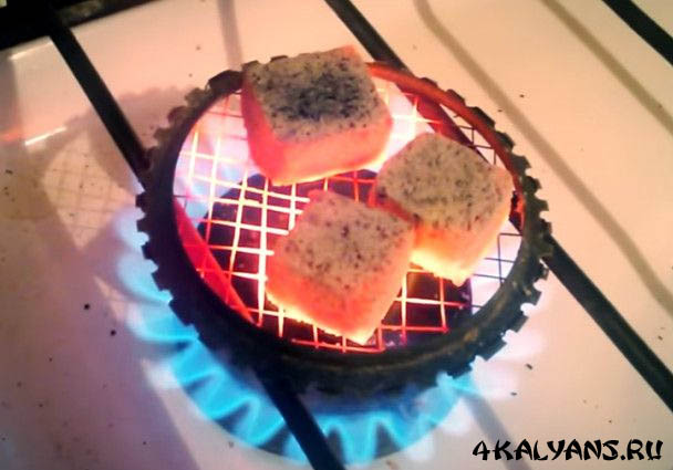 Как разжечь угли на газовой плите