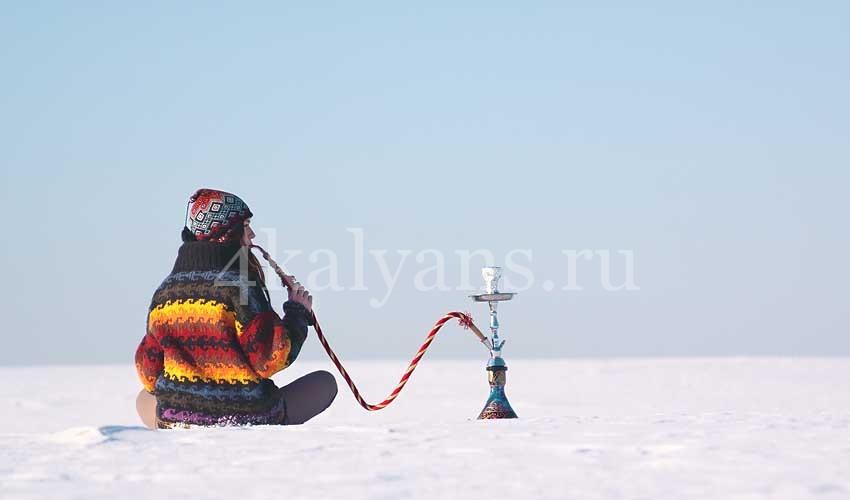 кальян зимой
