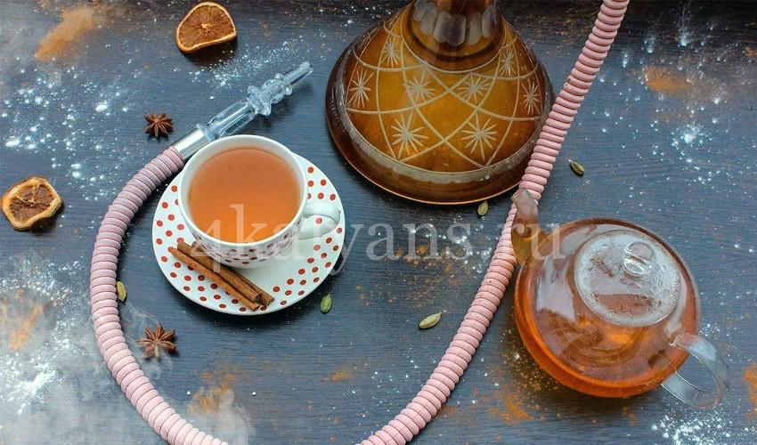 приготовление кальяна на чае